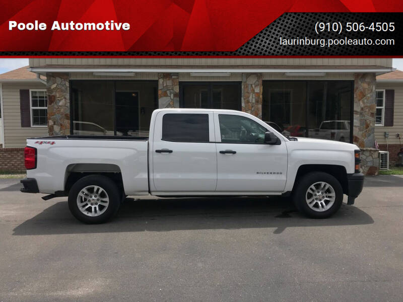 2014 Chevrolet Silverado 1500 for sale at Poole Automotive in Laurinburg NC