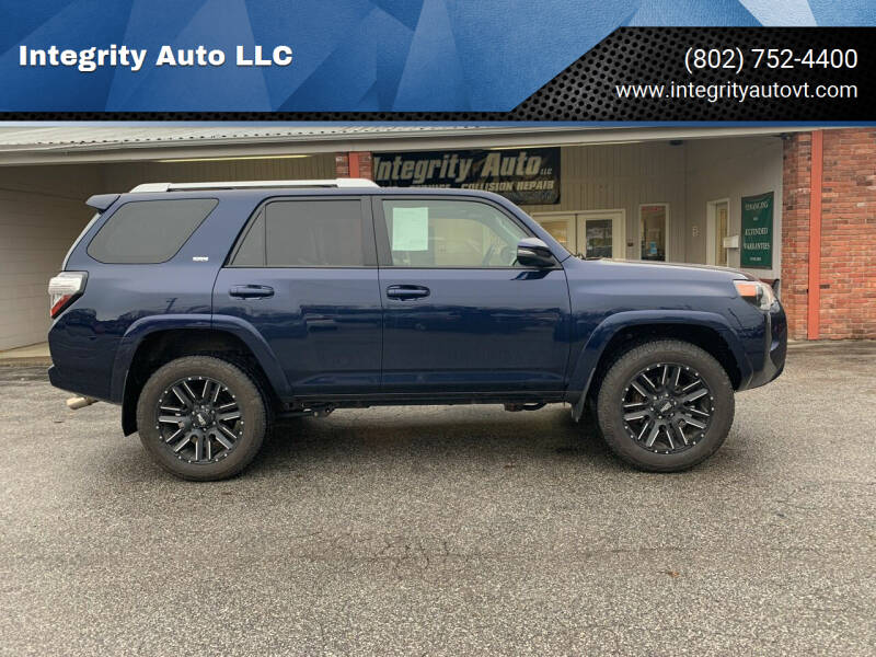 2017 Toyota 4Runner for sale at Integrity Auto LLC - Integrity Auto 2.0 in St. Albans VT