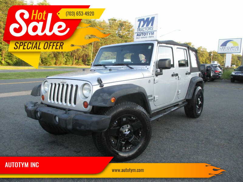 2012 Jeep Wrangler Unlimited for sale at AUTOTYM INC in Fredericksburg VA