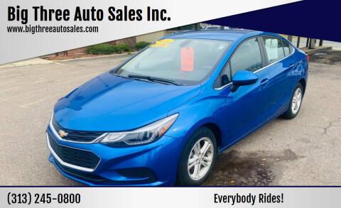 2017 Chevrolet Cruze for sale at Big Three Auto Sales Inc. in Detroit MI