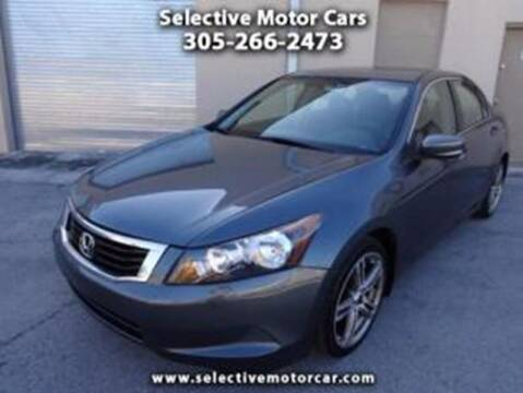 2008 Honda Accord for sale at Selective Motor Cars in Miami FL