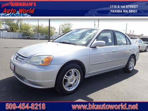 2002 Honda Civic for sale at Bruce Kirkham Auto World in Yakima WA