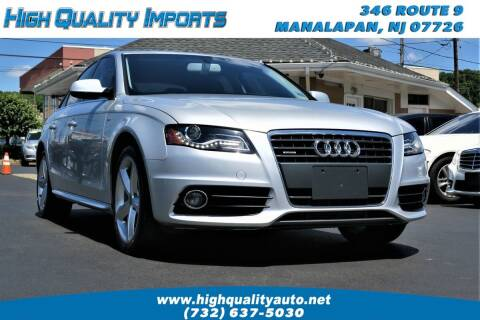 2012 Audi A4 for sale at High Quality Imports in Manalapan NJ