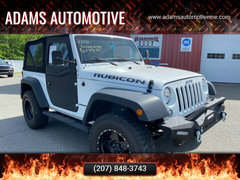 2016 Jeep Wrangler for sale at Adams Automotive in Hermon ME