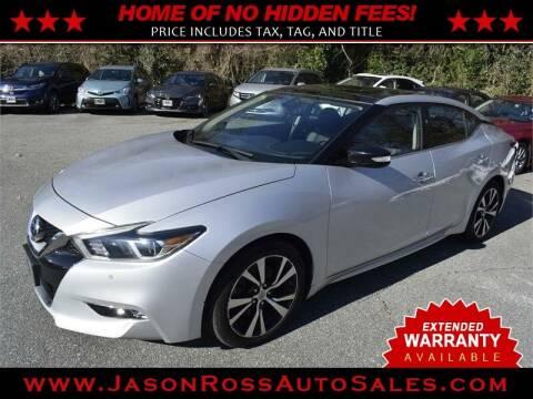 2017 Nissan Maxima for sale at Jason Ross Auto Sales in Burlington NC