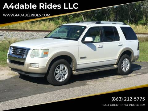 2007 Ford Explorer for sale at A4dable Rides LLC in Haines City FL