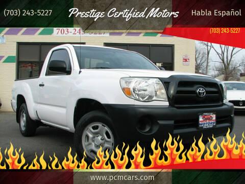 2008 Toyota Tacoma for sale at Prestige Certified Motors in Falls Church VA