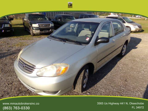 2004 Toyota Corolla for sale at M & M AUTO BROKERS INC in Okeechobee FL