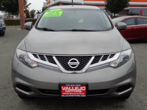 2012 Nissan Murano for sale at Vallejo Motors in Vallejo CA
