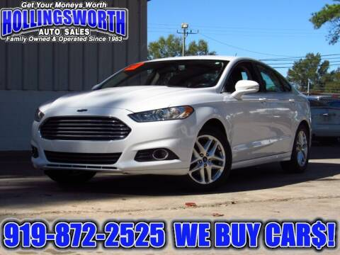 2013 Ford Fusion for sale at Hollingsworth Auto Sales in Raleigh NC