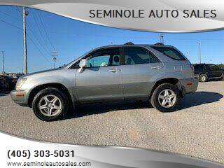 2000 Lexus RX 300 for sale at Seminole Auto Sales in Seminole OK