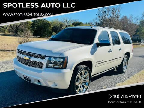 2011 Chevrolet Suburban for sale at SPOTLESS AUTO LLC in San Antonio TX