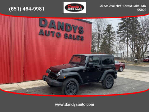 2015 Jeep Wrangler for sale at Dandy's Auto Sales in Forest Lake MN