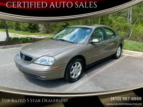2002 Mercury Sable for sale at CERTIFIED AUTO SALES in Severn MD