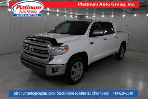 2016 Toyota Tundra for sale at Platinum Auto Group Inc. in Minster OH