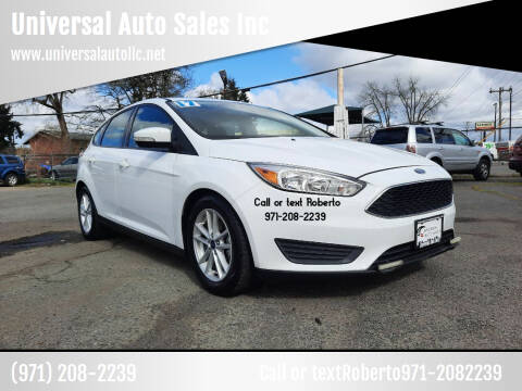 2017 Ford Focus for sale at Universal Auto Sales Inc in Salem OR