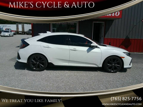 2017 Honda Civic for sale at MIKE'S CYCLE & AUTO in Connersville IN