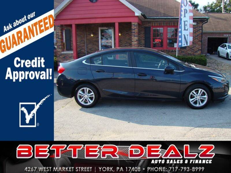 2016 Chevrolet Cruze for sale at Better Dealz Auto Sales & Finance in York PA