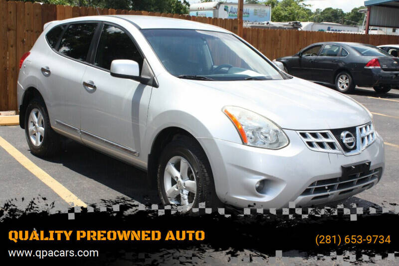 2013 Nissan Rogue for sale at QUALITY PREOWNED AUTO in Houston TX