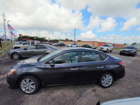 2013 Nissan Sentra for sale at BIG 7 USED CARS INC in League City TX