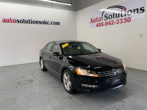 2013 Volkswagen Passat for sale at Auto Solutions in Warr Acres OK