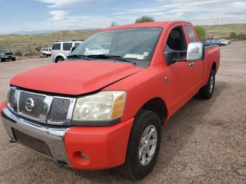 2004 Nissan Titan for sale at PYRAMID MOTORS - Pueblo Lot in Pueblo CO