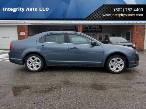 2011 Ford Fusion for sale at Integrity Auto LLC - Integrity Auto 2.0 in St. Albans VT