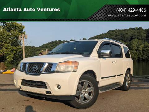 2010 Nissan Armada for sale at Atlanta Auto Ventures in Roswell GA