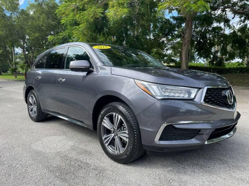 2018 Acura MDX for sale at DELRAY AUTO MALL in Delray Beach FL