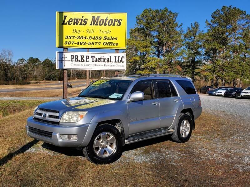 2004 Toyota 4Runner for sale at Lewis Motors LLC in Deridder LA