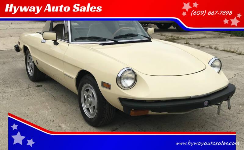 1982 Alfa Romeo Spider for sale at Hyway Auto Sales in Lumberton NJ
