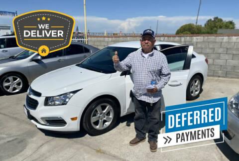 2015 Chevrolet Cruze for sale at CALIFORNIA AUTO SALE 2 in Livingston CA