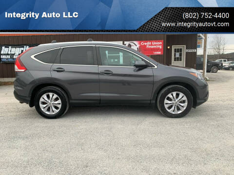 2014 Honda CR-V for sale at Integrity Auto LLC in Sheldon VT