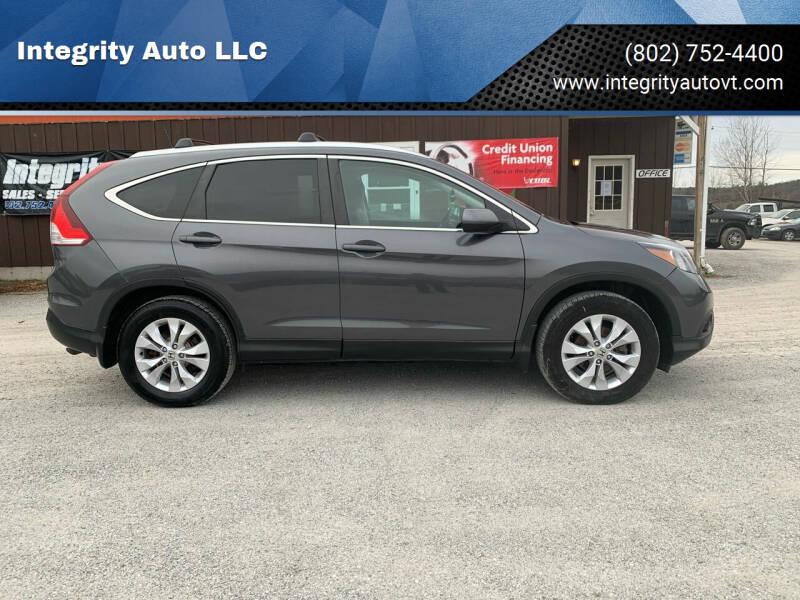 2014 Honda CR-V for sale at Integrity Auto LLC in Sheldon VT