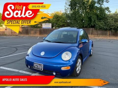 2003 Volkswagen New Beetle for sale at APOLLO AUTO SALES in Sacramento CA