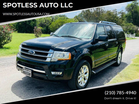 2017 Ford Expedition EL for sale at SPOTLESS AUTO LLC in San Antonio TX
