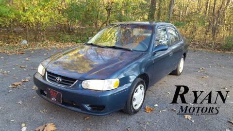 2002 Toyota Corolla for sale at Ryan Motors LLC in Warsaw IN