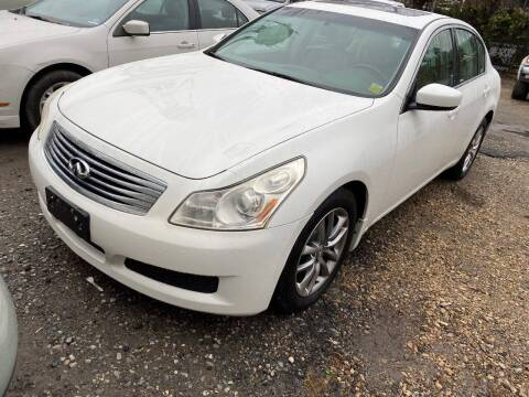 2009 Infiniti G37 Sedan for sale at Philadelphia Public Auto Auction in Philadelphia PA