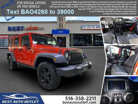 2017 Jeep Wrangler Unlimited for sale at Best Auto Outlet in Floral Park NY