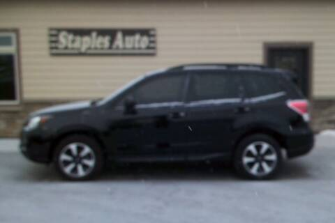 2018 Subaru Forester for sale at STAPLES AUTO SALES in Staples MN