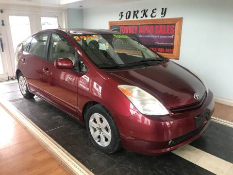 2005 Toyota Prius for sale at Forkey Auto & Trailer Sales in La Fargeville NY