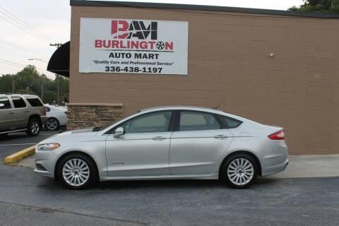 2015 Ford Fusion Hybrid for sale at Burlington Auto Mart in Burlington NC