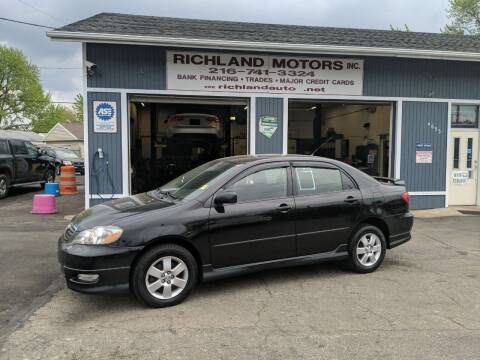 2007 Toyota Corolla for sale at Richland Motors in Cleveland OH