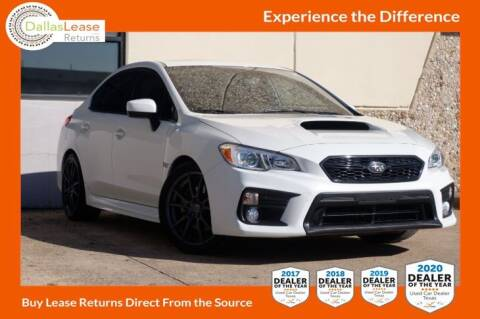 2018 Subaru WRX for sale at Dallas Auto Finance in Dallas TX