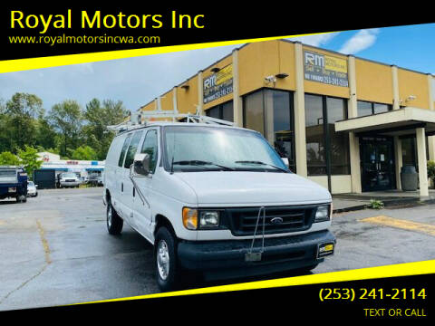 2003 Ford E-Series Cargo for sale at Royal Motors Inc in Kent WA