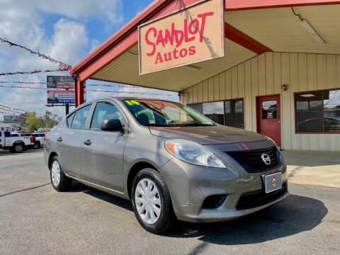 2014 Nissan Versa for sale at Sandlot Autos in Tyler TX