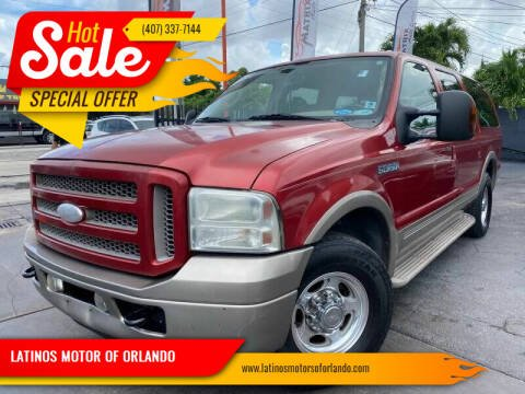2005 Ford Excursion for sale at LATINOS MOTOR OF ORLANDO in Orlando FL