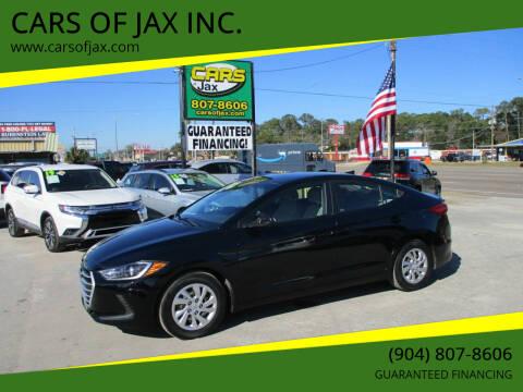 2017 Hyundai Elantra for sale at CARS OF JAX INC. in Jacksonville FL
