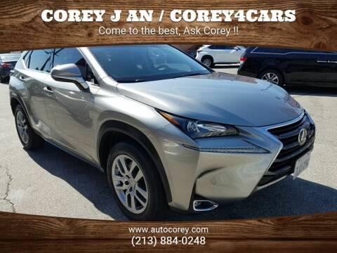 2015 Lexus NX 200t for sale at WWW.COREY4CARS.COM / COREY J AN in Los Angeles CA