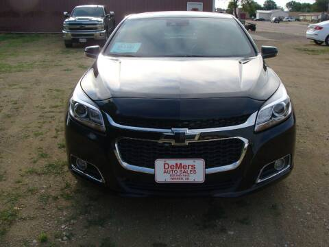 2015 Chevrolet Malibu for sale at DeMers Auto Sales in Winner SD